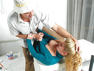 Gets her clothes ripped for fast anal penetration