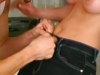 Insane euro anal kitchen sex