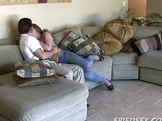 Hidden camera spies couple having hot fun