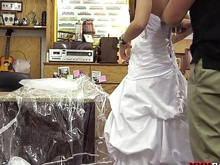Babe sells her wedding dress gets fucked