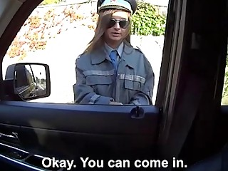 Police officer hitchhikes and slammed