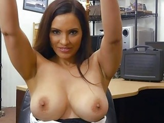 brunette woman with nice tits fucking