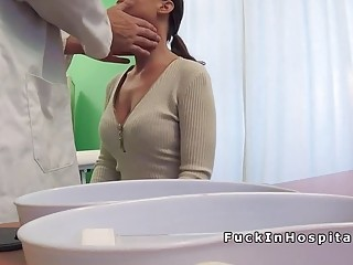 Big ass patient fucks big cock doctor in hospital
