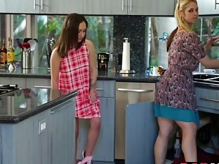 Lily Jordan and Sarah Vandella fucking a huge